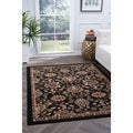 Lagoon 4593 Transitional Charcoal Area Rug (5' x 7')