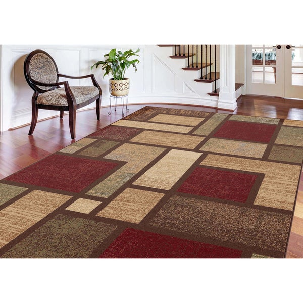 Alise flora contemporary multi area rug 7 39 10 x 10 39 3 for 7x9 bathroom designs