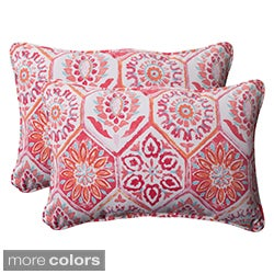Pillow Perfect 'Summer Breeze' Oversized Rectangular Outdoor Throw Pillows (Set of 2)