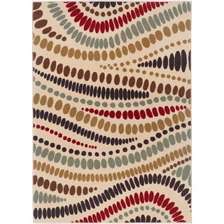 Lagoon 104512 Contemporary Beige Area Rug (7'6 x 9'10)