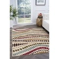 Lagoon 4512 Contemporary Beige Area Rug (7'6 x 9'10)
