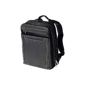Bugatti NORCIA Black Columbian Leather Laptop Backpack