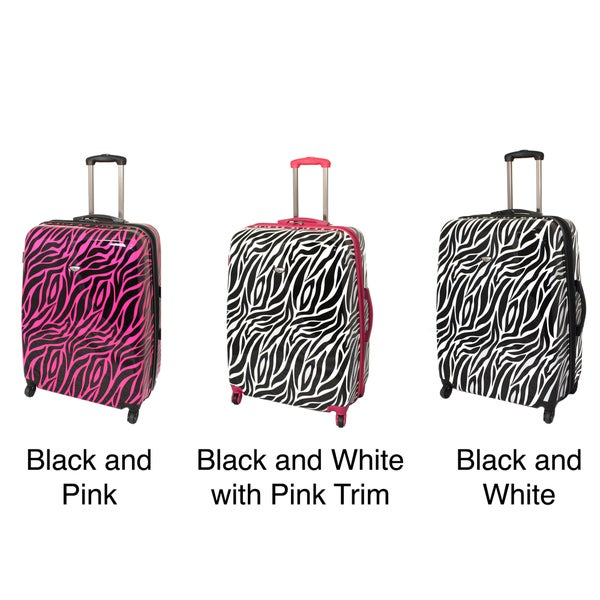 American Travel 29-inch Zebra Expandable Lightweight Hardside Spinner Suitcase