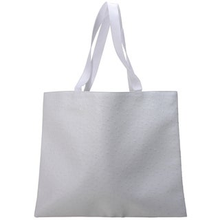 Roberto Amee White Ostrich Tote