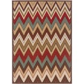 Lagoon 4648 Contemporary Multi Area Rug (7'6 x 9'10')