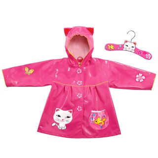 Kidorable Girls 'Lucky Cat' Rain Coat