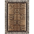 Flora 108753 Contemporary Beige Area Rug (5'3 x 7'3)