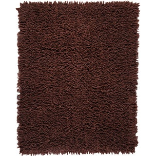 Modern Chocolate Eco Shag Chocolate Brown Rug (8' x 10')