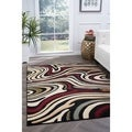 Lagoon 4608 Contemporary Charcoal Area Rug (5&#39; x 7&#39;)