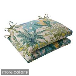 Pillow Perfect 'Splish Splash' Outdoor Squared Seat Cushions (Set of 2)