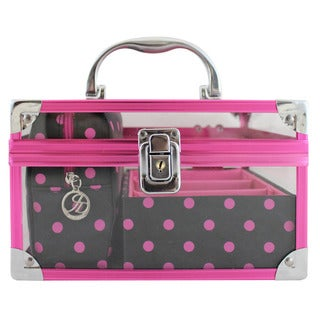 Polka Dot Romance 3-piece Train Case