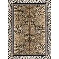 Flora 108753 Contemporary Beige Area Rug (7'10 x 10'3)