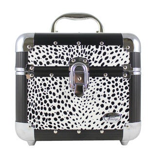 White Cheetah Print Train Case