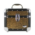 Gold Cheetah Print Train Case