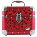 Red Sleek Shiny Train Case