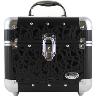 Black Sleek Shiny Train Case