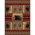 Natural 106570 Lodge Red Area Rug (7'10 x 10'3)