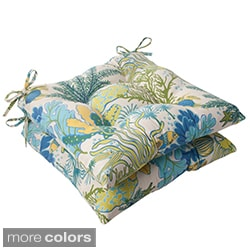 Pillow Perfect 'Splish Splash' Outdoor Tufted Seat Cushions (Set of 2)