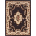 Lagoon 104613 Traditional Charcoal Area Rug (5' x 7')