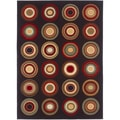 Lagoon 104638 Contemporary Charcoal Area Rug (5' x 7')