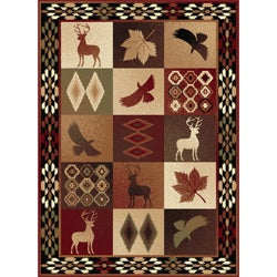 Natural 106590 Lodge Multi Area Rug (5'3 x 7'3)