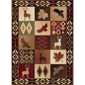 Natural 106590 Lodge Multi Area Rug (7'10 x 10'3)