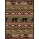 Natural 106588 Lodge Green Area Rug (7'10 x 10'3)