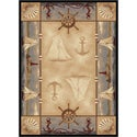 Natural 106582 Lodge Beige Area Rug (7'10 x 10'3)