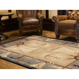 Alise Natural Lodge Beige Area Rug (7'10 x 10'3)