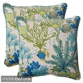 Pillow Perfect 'Splish Splash' Outdoor Square Throw Pillows (Set of 2)