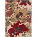 Lagoon Beige Contemporary Area Rug (5' x 7')