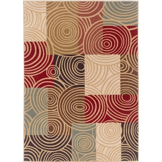 Lagoon 104530 Contemporary Multi Area Rug (7'6 x 9'10)
