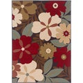 Lagoon 104520 Contemporary Multi Area Rug (5' x 7')