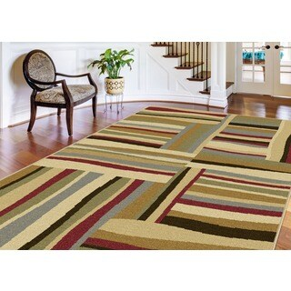Lagoon 104560 Contemporary Multi Area Rug (7'6 x 9'10)