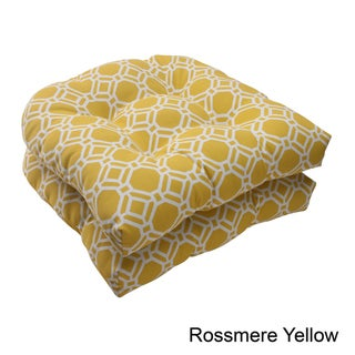 Pillow Perfect 'Rossmere' Outdoor Wicker Seat Cushions (Set of 2)