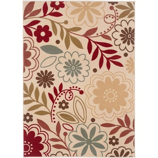 Lagoon 104542 Contemporary Beige Area Rug (7'6 x 9'10)