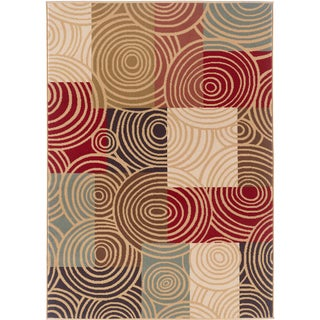 Lagoon 104530 Contemporary Multi Area Rug (5' x 7')