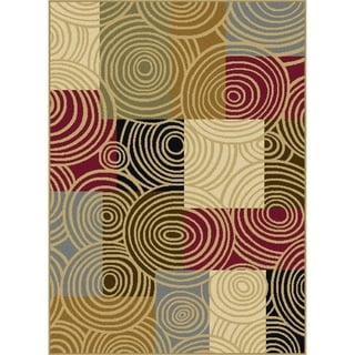 Alise Lagoon Contemporary Multi Area Rug (5' x 7')