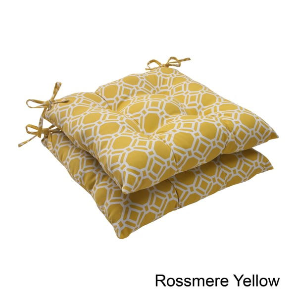 Pillow Perfect 'rossmere' Outdoor Tufted Seat Cushions (set Of 2)