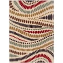 Lagoon 104512 Contemporary Beige Area Rug (5' x 7')