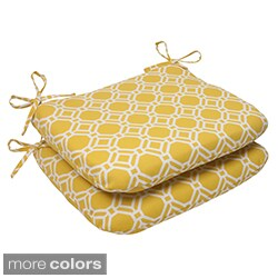 Pillow Perfect 'Rossmere' Outdoor Rounded Seat Cushions (Set of 2)