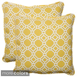 Pillow Perfect 'Rossmere' Outdoor Square Throw Pillows (Set of 2)