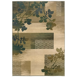 Sydney Beige/ Green Transitional Area Rug (9'9 x 12'2)