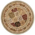Safavieh Lyndhurst Grey/ Multi-colored Rug (5'3 Round)