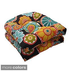 Pillow Perfect 'Rondo' Outdoor Wicker Seat Cushions (Set of 2)