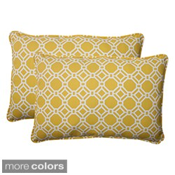 Pillow Perfect 'Rossmere' Outdoor Oversized Throw Pillows (Set of 2)