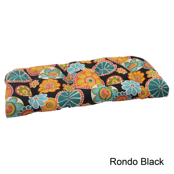 Pillow Perfect 'Rondo' Outdoor Wicker Loveseat Cushion