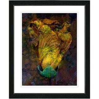 Studio Works Modern 'Golden Flower Bud' Framed Print