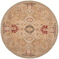 Safavieh Handmade Anatolia Diamonds Beige/ Multi Hand-spun Wool Rug (8' Round)
