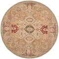 Hand-made Anatolia Diamonds Hand-spun Wool Rug (8' Round)